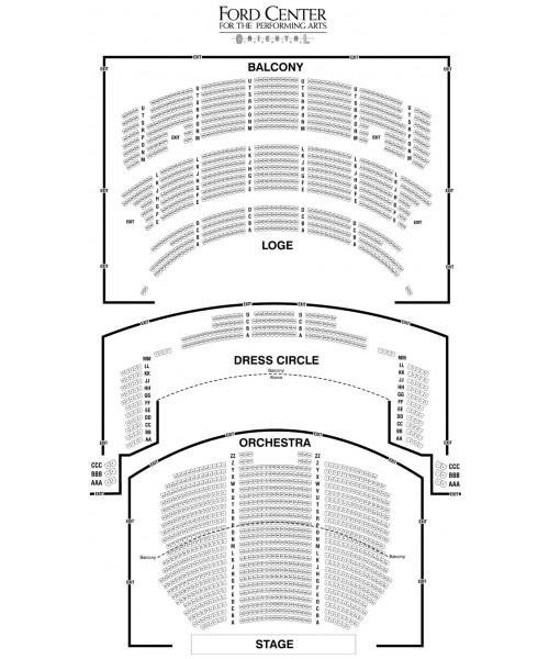 Oriental theatre ford center chicago il theatrical index